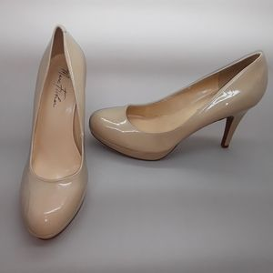 "Marc Fisher ""Sydney2"" Nude Patent Pump Size 9"